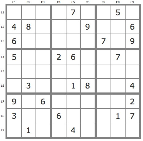 Solution d'un sudoku